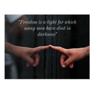 "Vietnam Wall, ""Freedom is a light...."" Postcard"