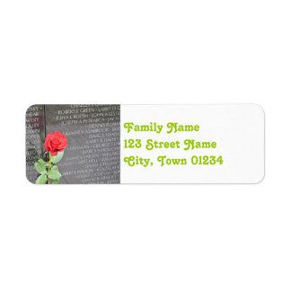 Vietnam Wall Memorial Label