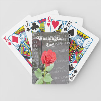 Vietnam Wall Memorial Bicycle Playing Cards
