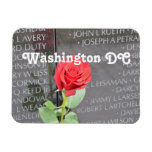 Vietnam Wall Memorial Rectangular Photo Magnet