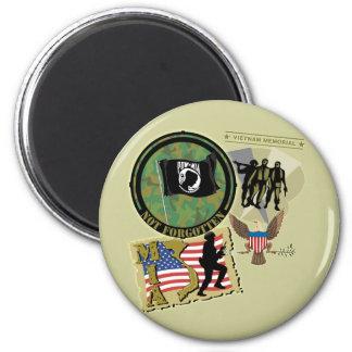 Vietnam War 2 Inch Round Magnet