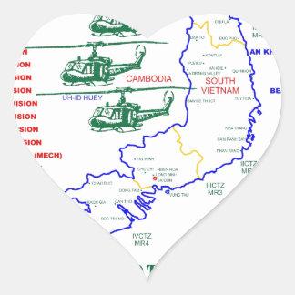 VIETNAM WAR. AMERICAN ARMY VETERAN HEART STICKER