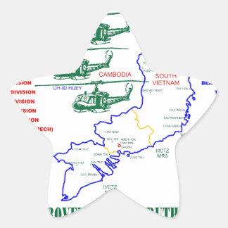 VIETNAM WAR. AMERICAN ARMY VETERAN STAR STICKER