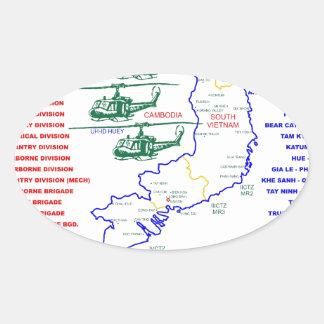 VIETNAM WAR. AMERICAN ARMY VETERAN STICKER