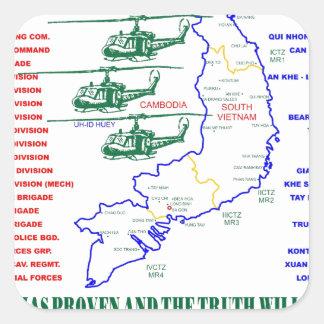 VIETNAM WAR. AMERICAN ARMY VETERAN STICKERS
