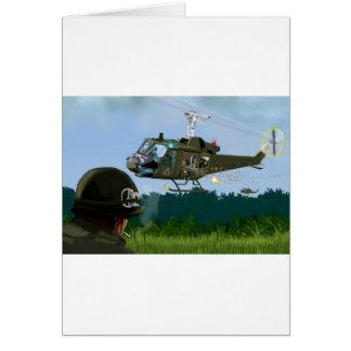 Vietnam War Bell Huey. Greeting Card