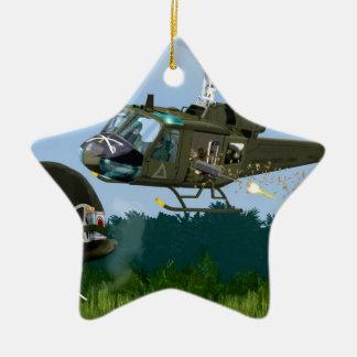 Vietnam War Bell Huey. Ceramic Ornament