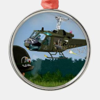 Vietnam War Bell Huey. Metal Ornament