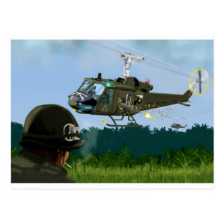 Vietnam War Bell Huey. Postcard