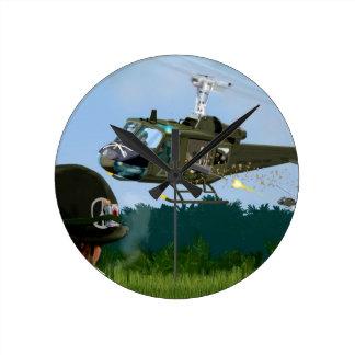 Vietnam War Bell Huey. Round Clock