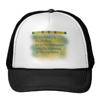 Vietnam war helmet graffiti trucker hat