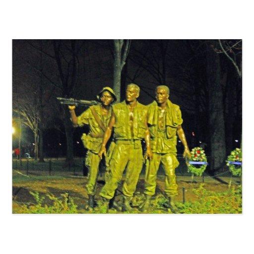 Vietnam War Memorial at Night Washington DC Post Cards