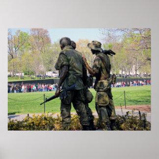 Vietnam War Memorial D.C. Poster