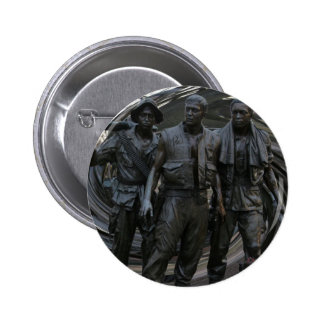 Vietnam War Memorial Round Button