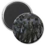 Vietnam War Memorial Round Magnet