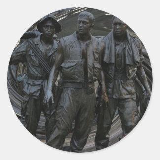Vietnam War Memorial Round Stickers