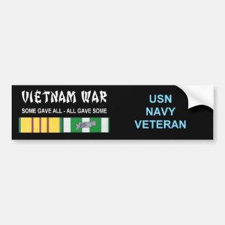VIETNAM WAR NAVY VET CAR BUMPER STICKER