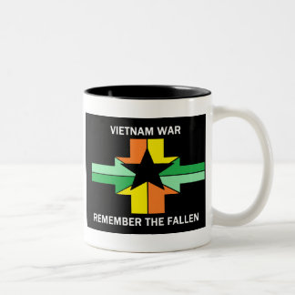 VIETNAM WAR - REMEMBER THE FALLEN Two-Tone COFFEE MUG