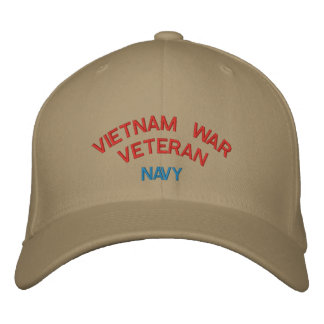 VIETNAM WAR VETERAN, NAVY EMBROIDERED BASEBALL CAP