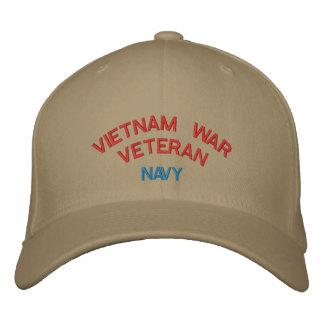 VIETNAM WAR VETERAN, NAVY EMBROIDERED BASEBALL CAPS
