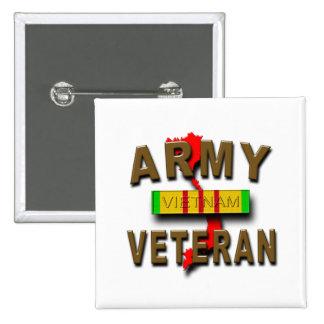 Vietnam War Veteran Service Ribbon, ARMY Pinback Button