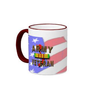 Vietnam War Veteran Service Ribbon, ARMY Ringer Mug