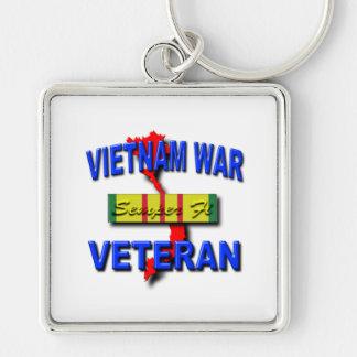 Vietnam War Veteran Service Ribbon, Semper Fi Keychain