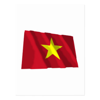 Vietnam Waving Flag Postcard