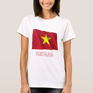 Vietnam Waving Flag with Name T-Shirt