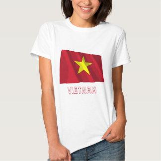 Vietnam Waving Flag with Name Tee Shirt