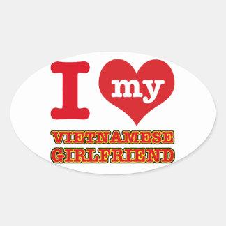 Vietnam wife oval sticker