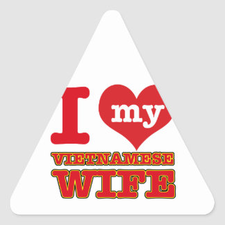 Vietnam wife triangle sticker