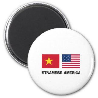 Vietnamese American 2 Inch Round Magnet