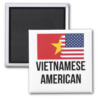 Vietnamese American Flag 2 Inch Square Magnet