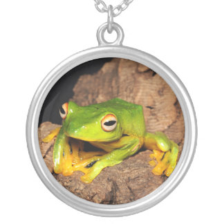 Vietnamese Black-Webbed Gliding Frog Silver Plated Necklace