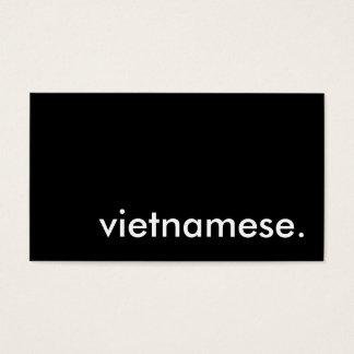 vietnamese. business card