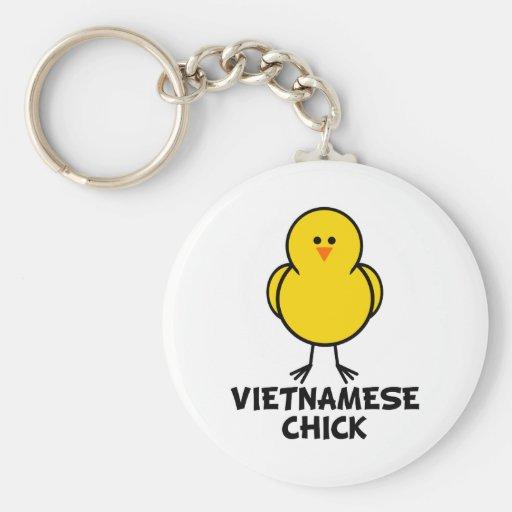 Vietnamese Chick Basic Round Button Keychain