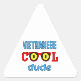 Vietnamese Cool Dude Triangle Sticker