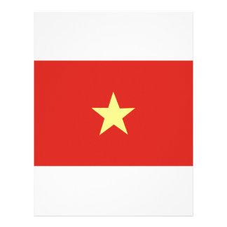 Vietnamese Flag Letterhead