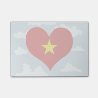 Vietnamese Flag on a cloudy background Post-it® Notes