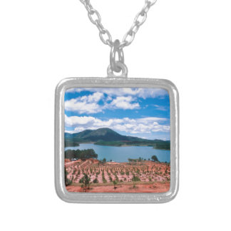 Vietnamese Forest Lake Silver Plated Necklace