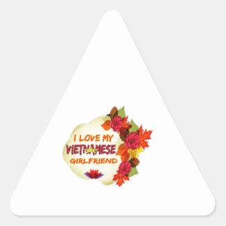 Vietnamese Girlfriend designs Triangle Sticker