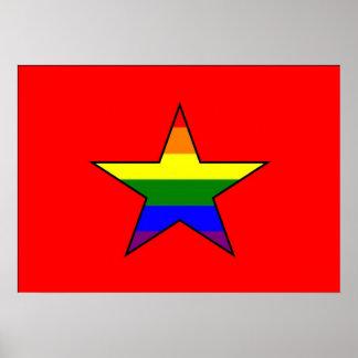 Vietnamese GLBT Pride Flag Print