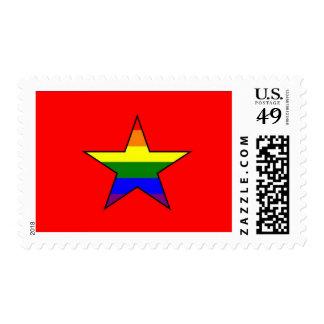 Vietnamese GLBT Pride Flag Stamp