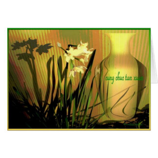 Vietnamese Happy New Year Paperwhites Card