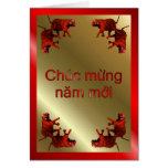 VIETNAMESE HAPPY NEW YEAR - WRITTEN IN VIETNAMESE GREETING CARD