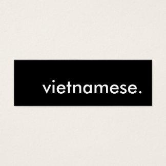 vietnamese. mini business card