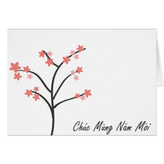 Vietnamese New Year Greeting Card