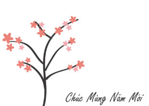 vietnamese new year greeting holiday card