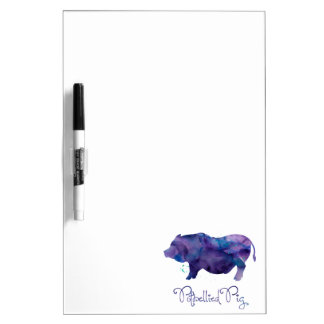 Vietnamese Potbellied Pig Watercolor Design Dry Erase Board